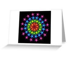 vivid star circles Greeting Card
