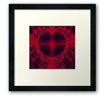 Cross My Heart Framed Print