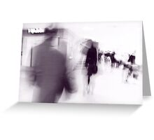 Moving People I Greeting Card