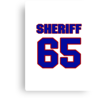 National football player Stan Sheriff jersey 65 Canvas Print