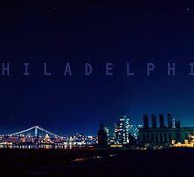 Philadelphia at night.  by ishore1