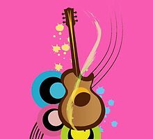 Abstract Guitar for phone cases by nidesh