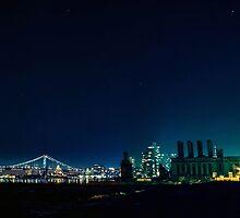 Philadelphia at night. by America Roadside.