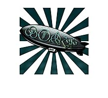 ANCIENT PAGAN SYMBOLS ON A ZEPPELIN - REEL STEEL/BLUE GREEN Photographic Print