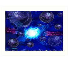 Jellyfish Juggernaut Art Print
