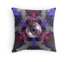 Red Grey & Blue Throw Pillow