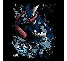 Naruto is a ninja? tsk have you ever met Greninja? Photographic Print