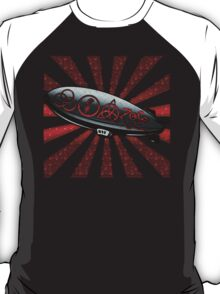 ANCIENT PAGAN SYMBOLS ON A ZEPPELIN - REEL STEEL/RED POP T-Shirt