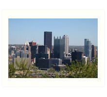 downtown view from Mt Washington Art Print