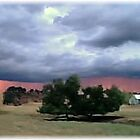 Stormy Ranch Sunset by Billie Bullock