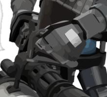 Team Fortress 2 - Heavy Robot w/ Minigun (BLU) [Vector] Sticker