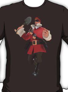 Team Fotress 2 - Soldier Rocket Jumping w/ Team Captain (RED) [Vector] T-Shirt