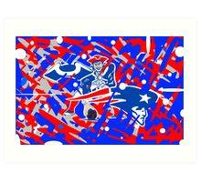 new england patriots collage art Art Print