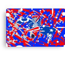 new england patriots collage art Canvas Print