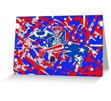 new england patriots collage art Greeting Card