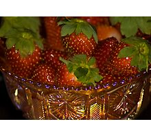 Strawberry Anyone? Photographic Print