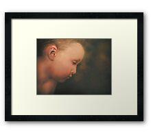 Little Boy Dreams Framed Print