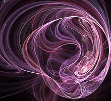 Pink Swirls by Rajee
