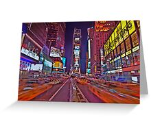 Times Square In Motion Greeting Card