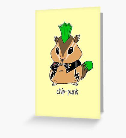 Chip-punk Greeting Card