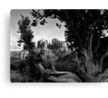 Sedona in Black & White Canvas Print