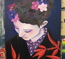 kimono model by Teagan Watts
