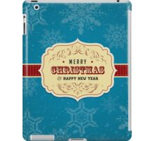 Vintage Label Christmas Card - Merry Christmas iPad Case/Skin