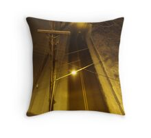 late night street light Throw Pillow