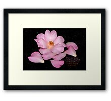 The Lord is near to the brokenhearted . . . Framed Print