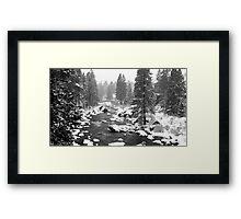 Blanket of snow Framed Print