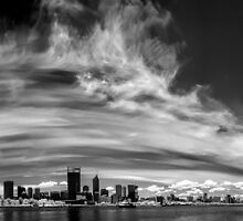 Perth City in Infra-red by Ladyshark