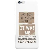 X-Acto-Mundo. iPhone Case/Skin