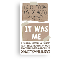 X-Acto-Mundo. Canvas Print