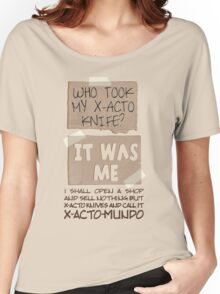 X-Acto-Mundo. Women's Relaxed Fit T-Shirt