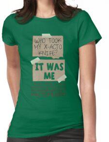 X-Acto-Mundo. Womens Fitted T-Shirt