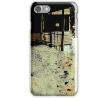cafe in the winter iPhone Case/Skin