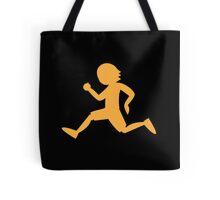 Runner running male shape Tote Bag