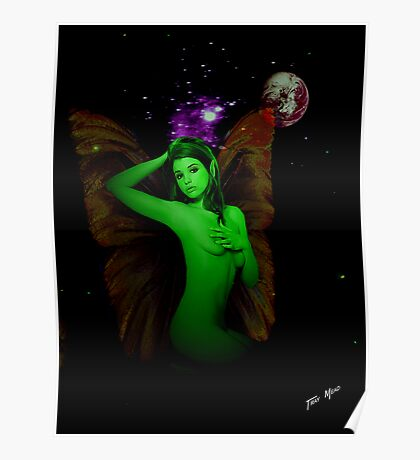 Green Faerie Poster