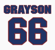 National football player Wade Grayson jersey 66 by imsport