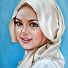 portrait of Siti Nurhaliza by Hidemi Tada