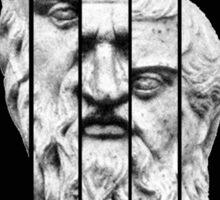 Plato Black Sticker