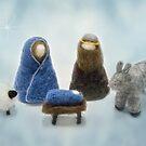 Felted Nativity by Celeste Mookherjee