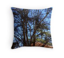Red Roof Trees Throw Pillow