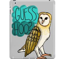 Guess Hoo? iPad Case/Skin