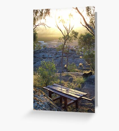 picnic location Greeting Card