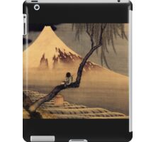 'Boy In Front Of Fujiama' by Katsushika Hokusai (Reproduction) iPad Case/Skin