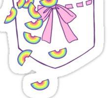 pocket rainbows Sticker
