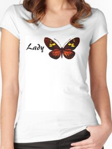 Lady Butterfly Women's Fitted Scoop T-Shirt