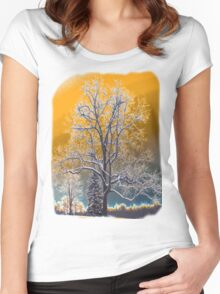 Tree Shirt Orange Women's Fitted Scoop T-Shirt