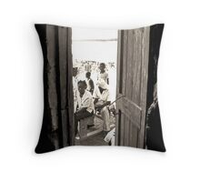 Medical Mission Patients Throw Pillow